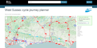 West Sussex cycle journey planner